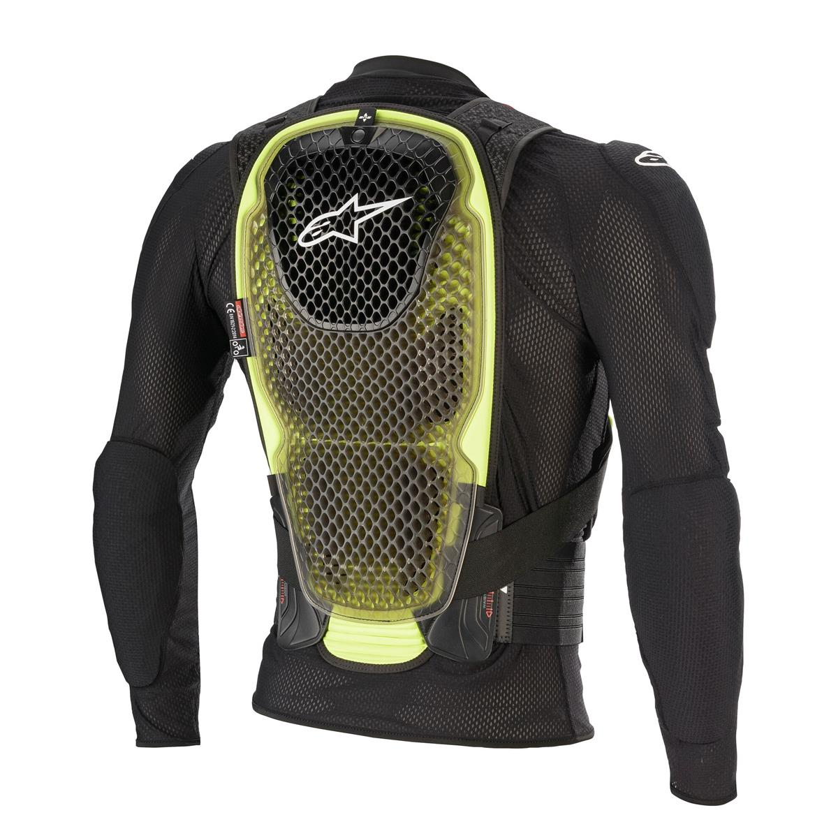6506620 155 Alpinestars Bionic Pro V2 Protection Jacket Black Yellow Gilet de Protection Motocross Protektorjacke Enduro BMX Downhill Beschermingsjas Harnas