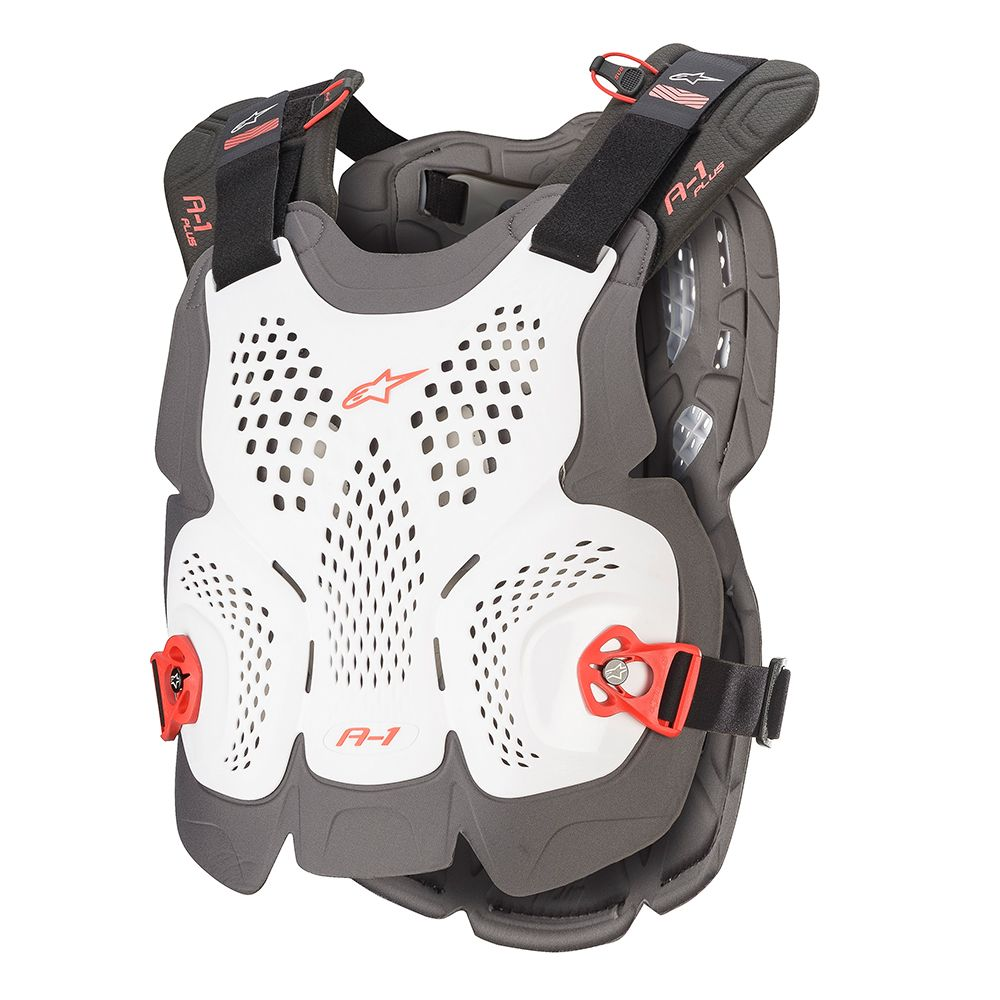 6700120 2043 Alpinestars A-1 Plus Chest Body Protector White Pare-Pierres Brustpanzer Harnas Borstbescherming