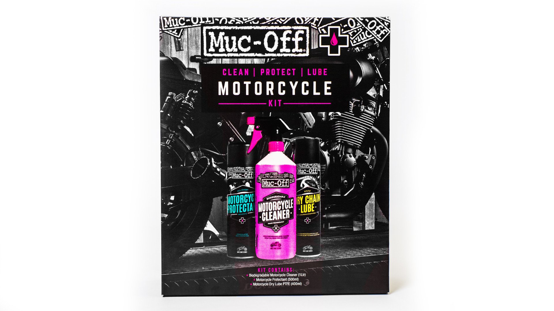 672 Muc-Off Clean Protect Lube Motorcycle Kit