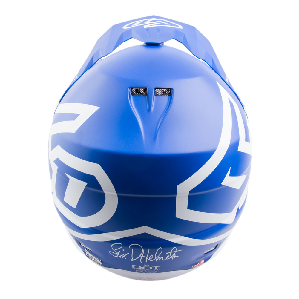 6d atr-1 macro blue motocross helmet casque enduro cross helm