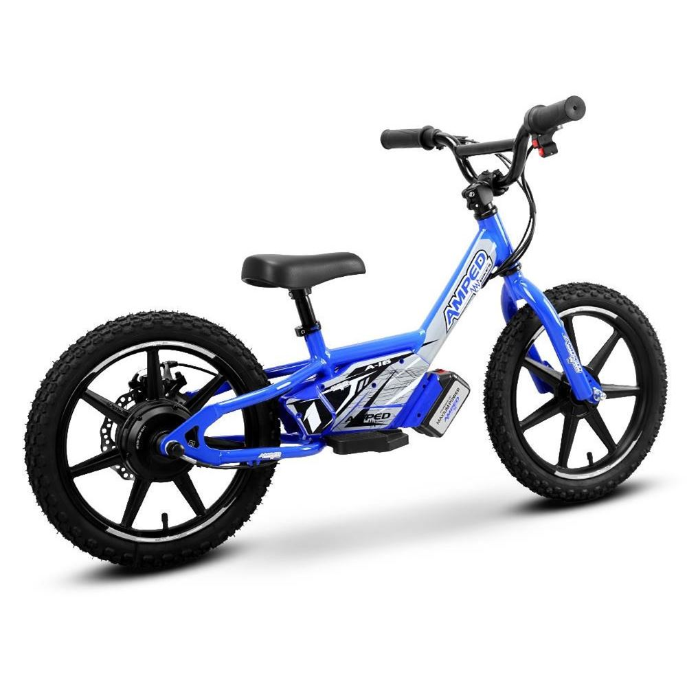 Amped A16 Kids Electric Balance Bike Blue electrische kinderfiets