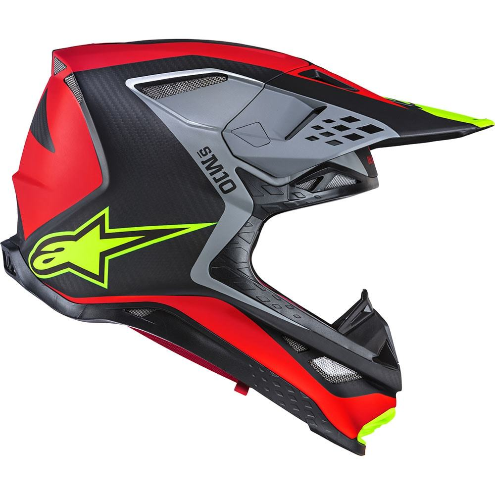 2019 Alpinestars S-M10 A1 Limited Edition Supertech Helmet Red Black Yellow Casque Enduro Motocross Crosshelm Helm
