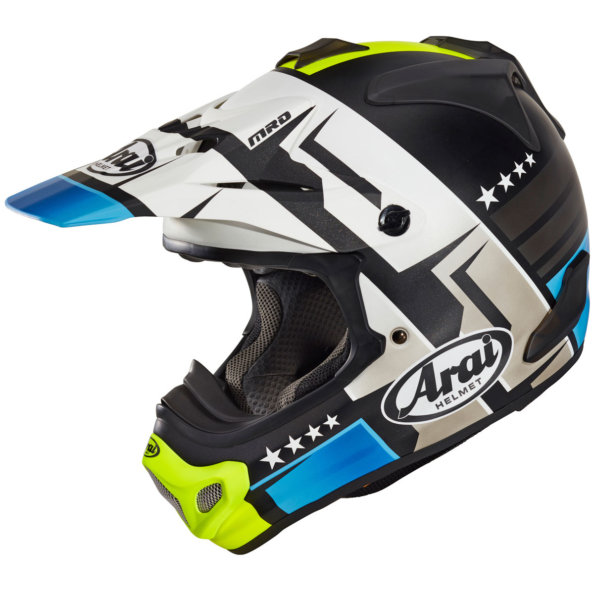 Arai MX-V Combat Helmet Black Blue motocross bmx enduro helmet crosshelm casque helm