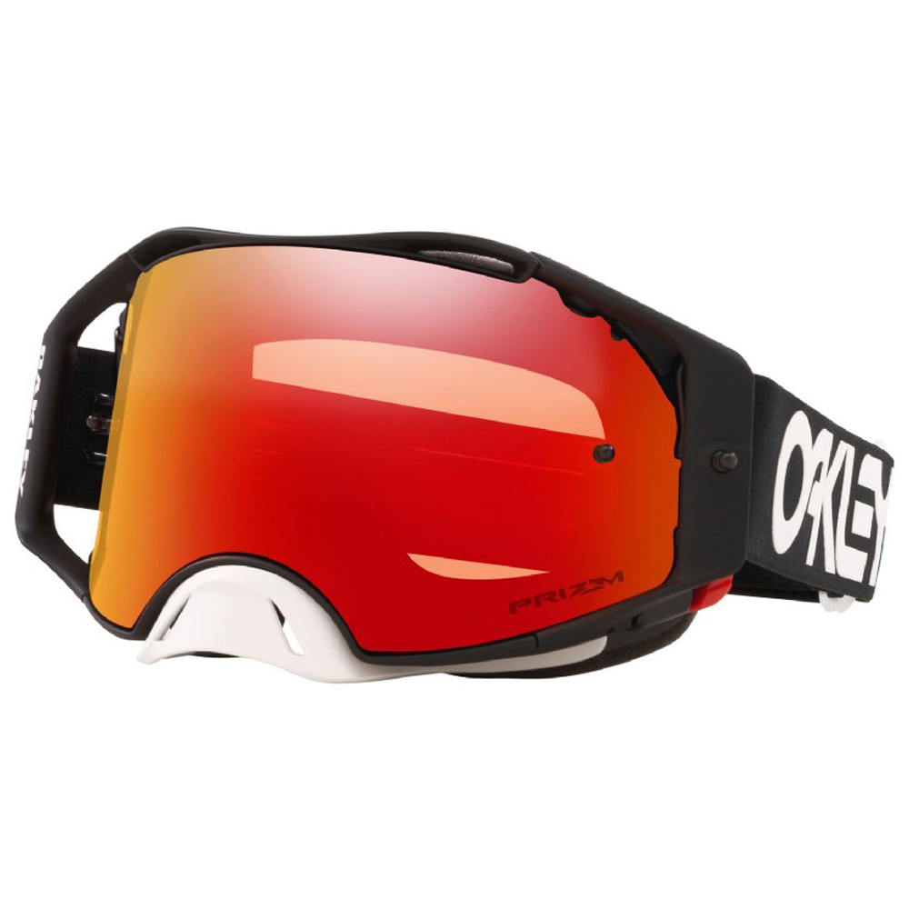 OO7046-93 Oakley Airbrake MX Factory Pilot Goggle Black Przm Torch Lens  Motocross Enduro Masque Brille Bril