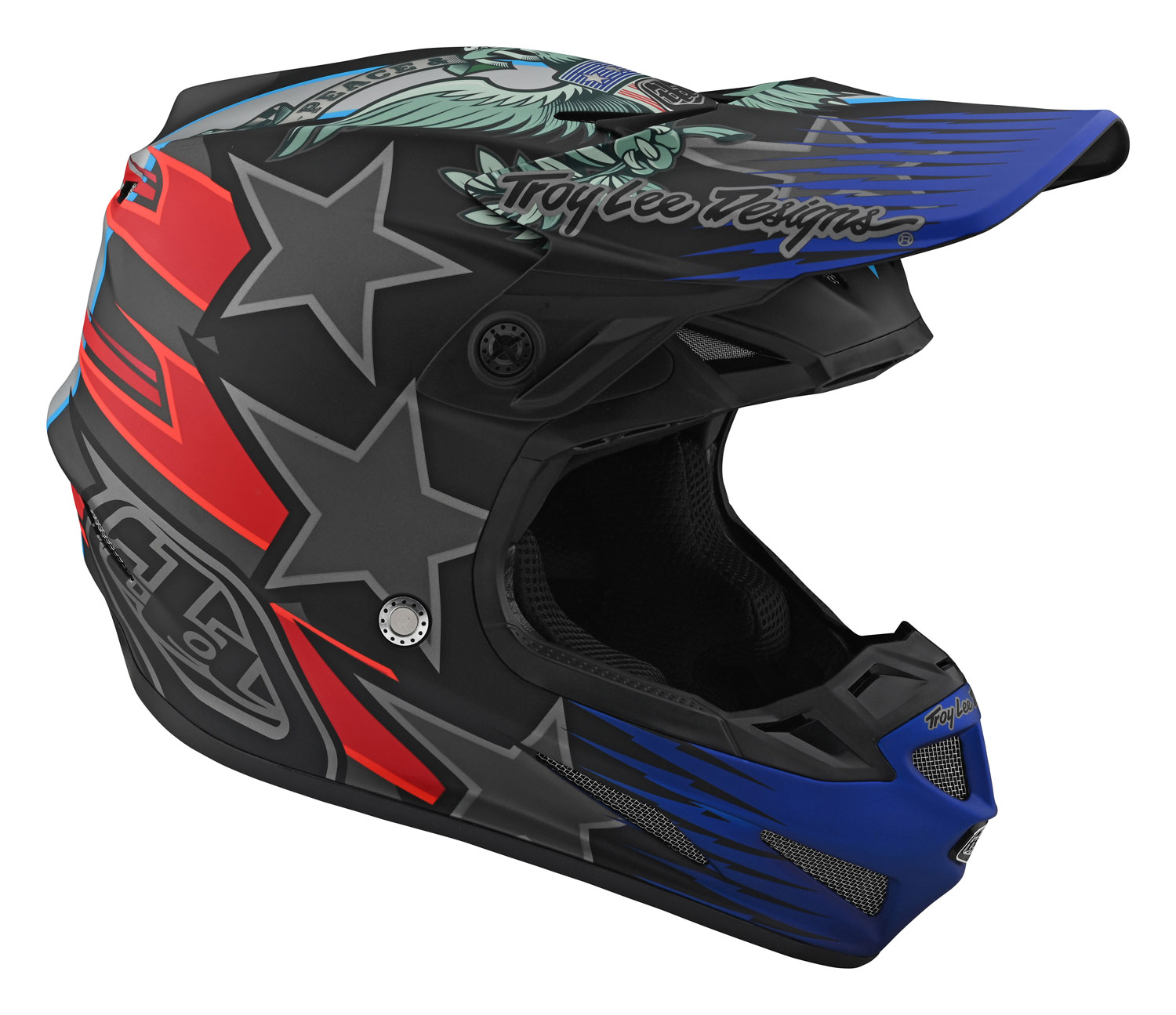 10586000  Troy Lee Designs SE4 Composite Liberty Helmet Black Crosshelm Casque Enduro Motocross Helm