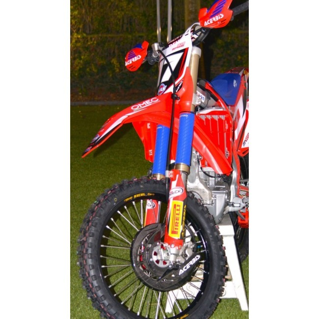Acerbis Rubber Upper Fork Covers Black Sixstar Racing