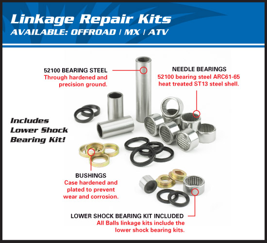 all balls linkage bearing kit kawasaki kx kxf kit roulements de biellettes umlenklager-kit
