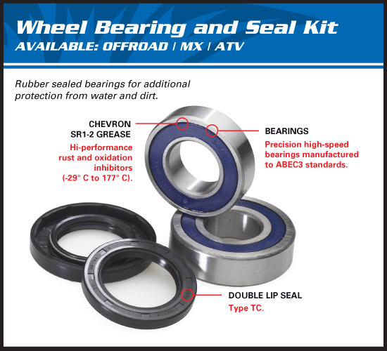 all balls rear wheel bearings kit yamaha yz yzf wrf achterwiel lagers roulements roue arièrre radlager-kit hinten