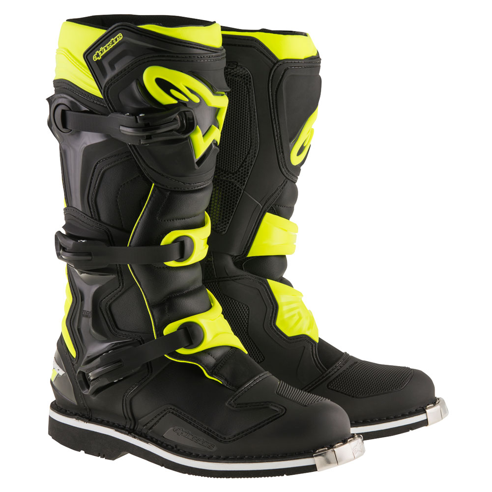 alpinestars tech 1 boots black yellow fluo sixstar racing. Black Bedroom Furniture Sets. Home Design Ideas