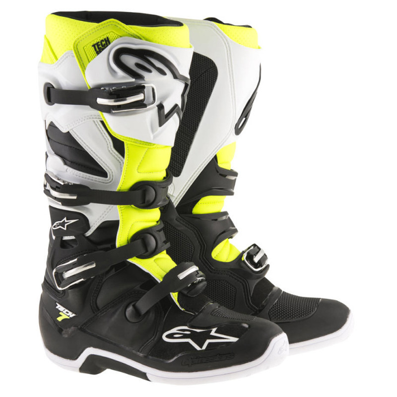 7 Yellow Black FluoSixstar Alpinestars Boots White Tech WrdxoeCB
