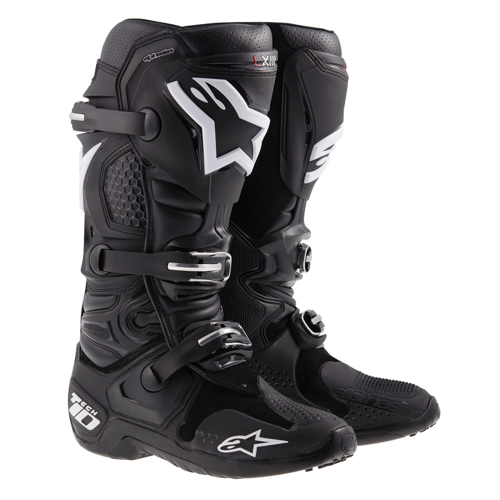 alpinestars tech10 black motocross enduro boots laarzen stiefel bottes