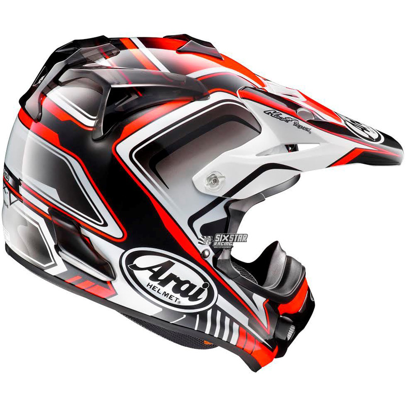 arai mx v speedy red motocross helmet casque rouge. Black Bedroom Furniture Sets. Home Design Ideas