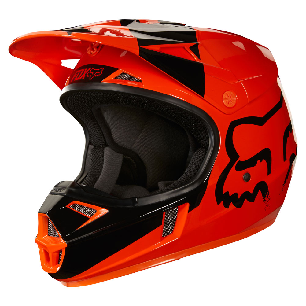 2018 fox racing youth v1 mastar helmet orange sixstar racing. Black Bedroom Furniture Sets. Home Design Ideas