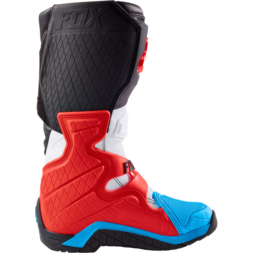 fox comp 8 red white motocross enduro boots laarzen stiefel bottes botas stivali