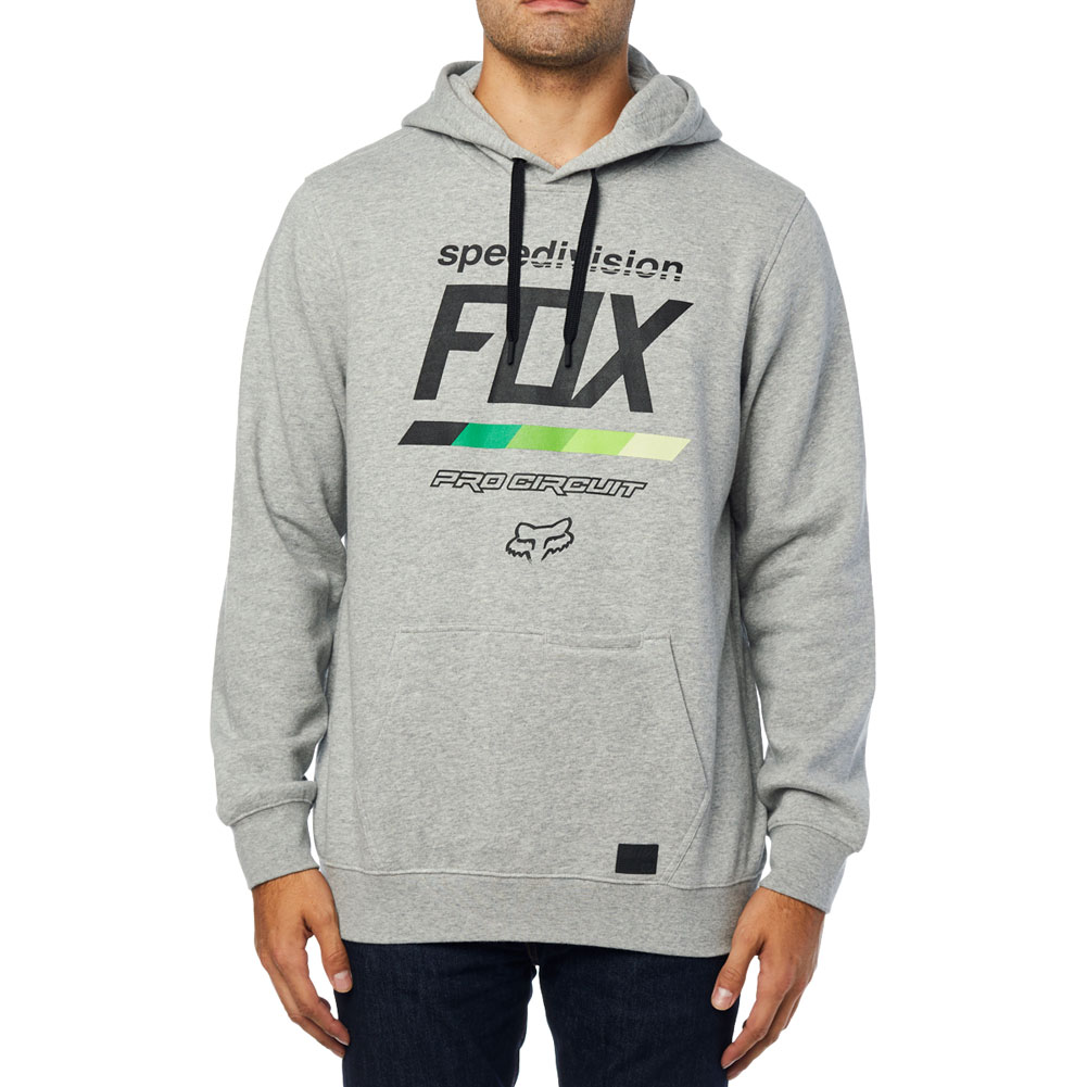 fox racing pro circuit draftr pullover fleece hoody grey trui sweatshirt veste