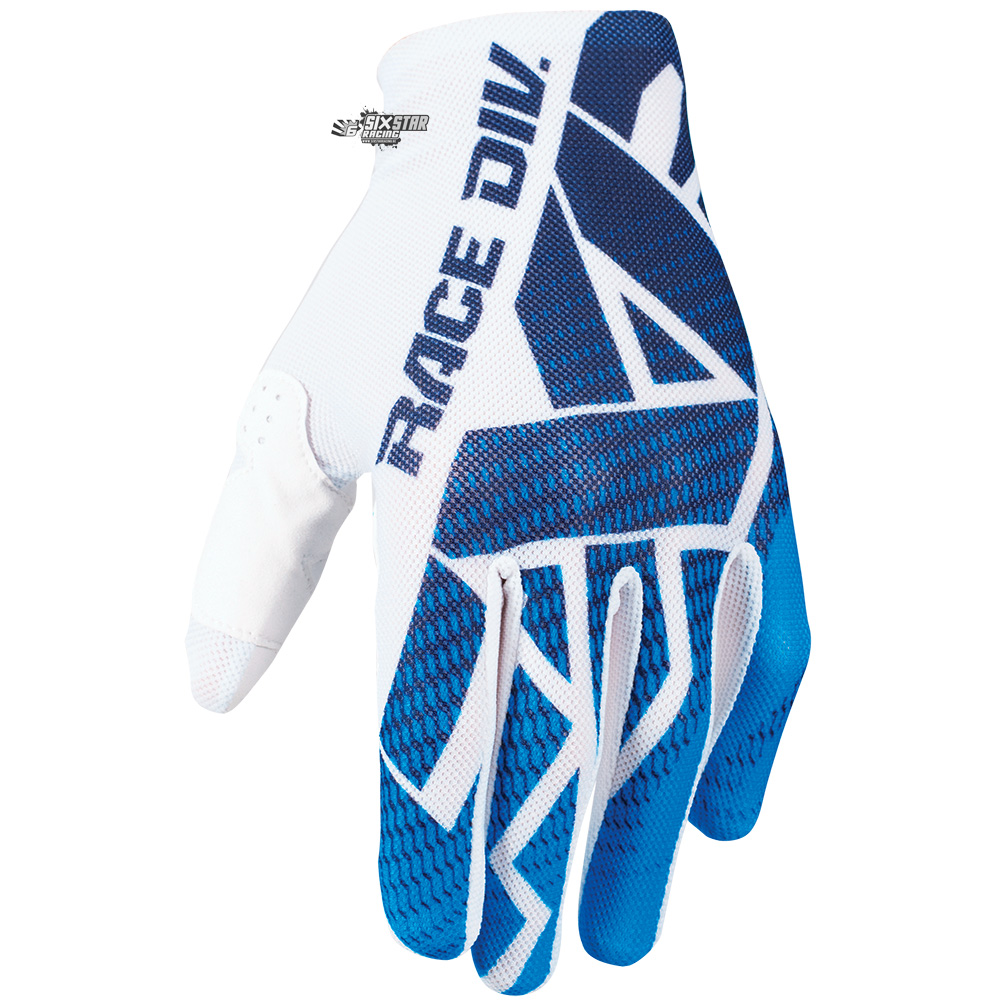 fxr racing moto slip on air motocross gloves white blue gants handschuhe handschoenen bmx downhill enduro
