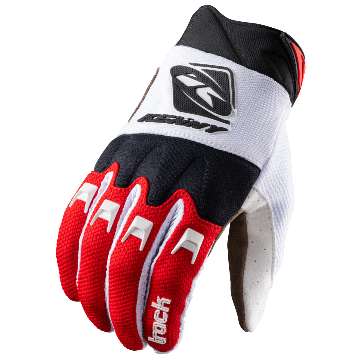 211-2803011 2021 Kenny Racing Track Gloves White Red Black Handschoenen Gants Handschuhe