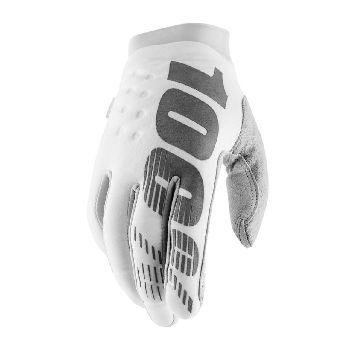 100% Brisker Cold Weather Gloves White Silver Gants d'Hiver Handschuhe Koud weer Handschoenen