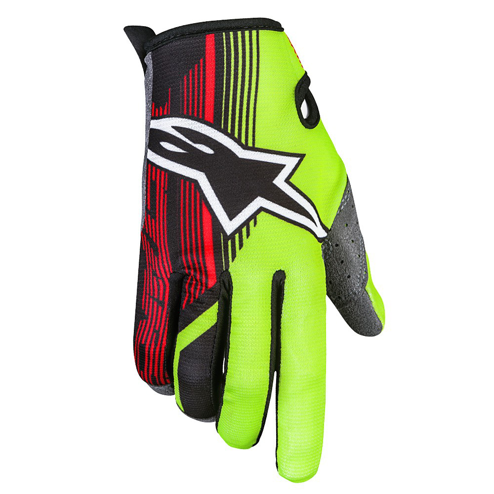 Alpinestars Radar 2 Le Torch Gloves Yellow Black Red Sixstar Racing