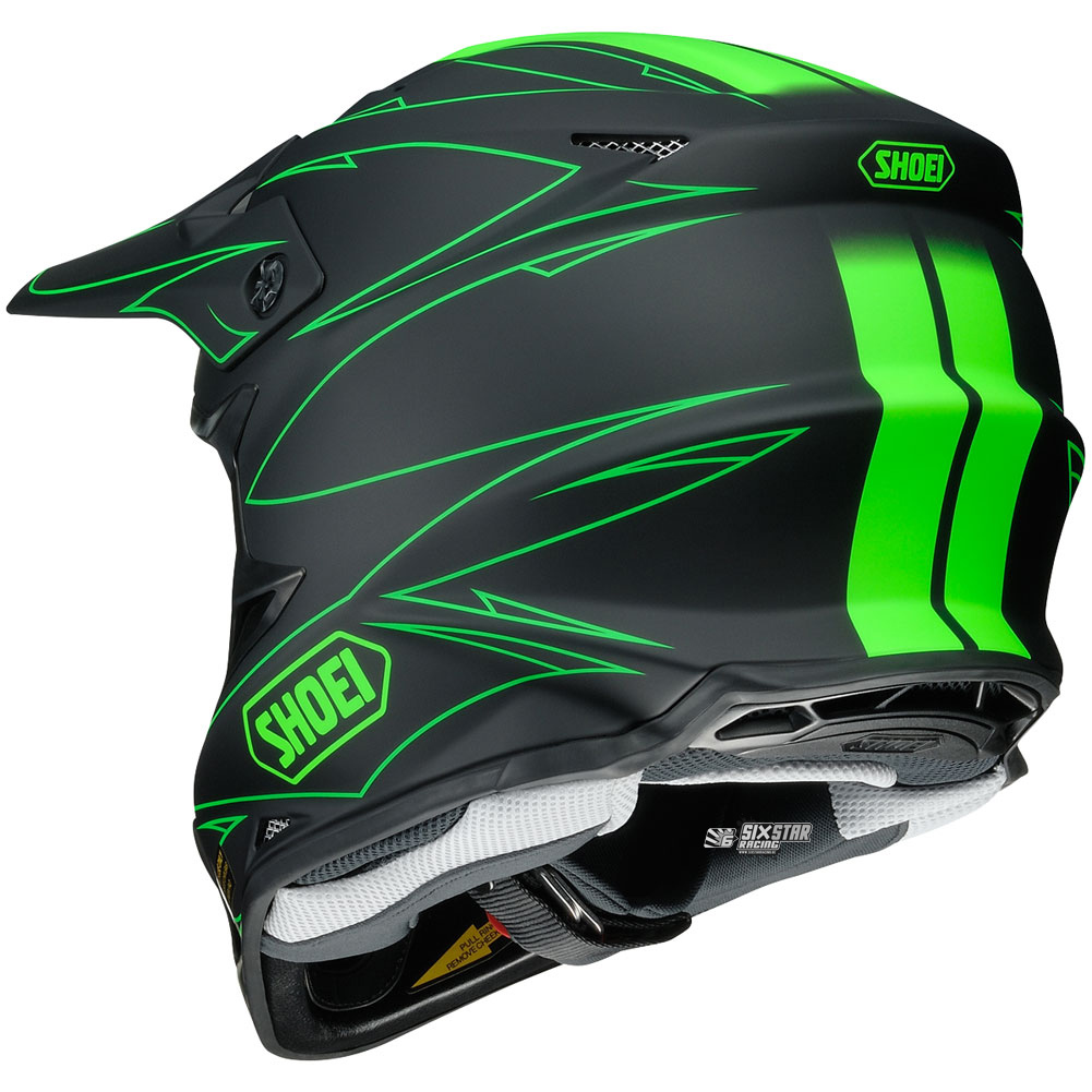 2017 Shoei VFX-W Hectic TC-4 Green Black Helmet | motocross gear ...