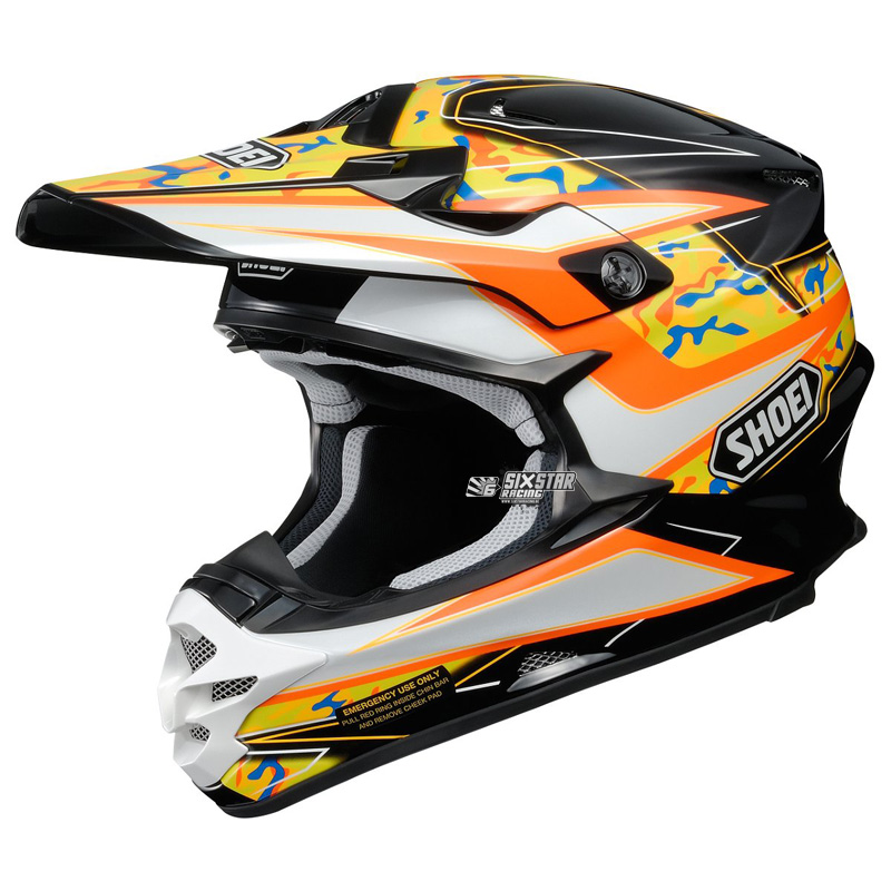 shoei vfx-w turmoil tc-8 helmet casque helm motocross enduro off-road