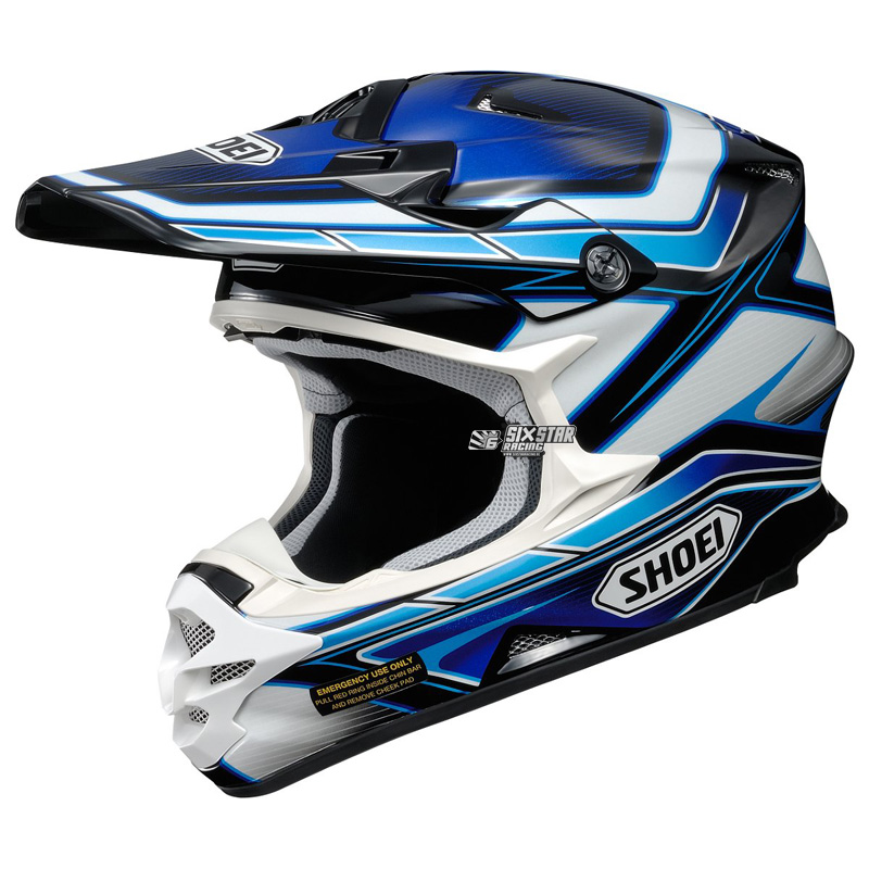 shoei vfx-w capacitor tc-2 helmet casque helm motocross enduro off-road