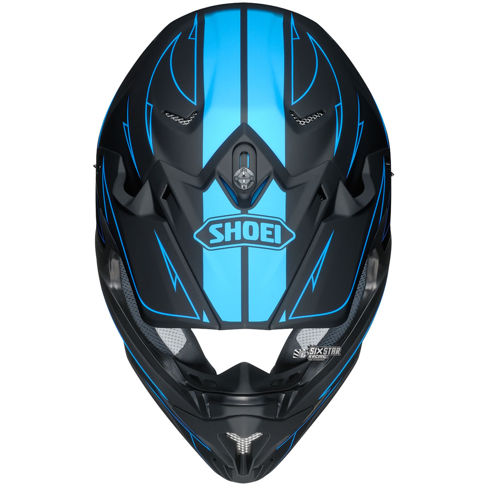 shoei vfx w hectic tc 2 blue black helmet sixstar racing. Black Bedroom Furniture Sets. Home Design Ideas
