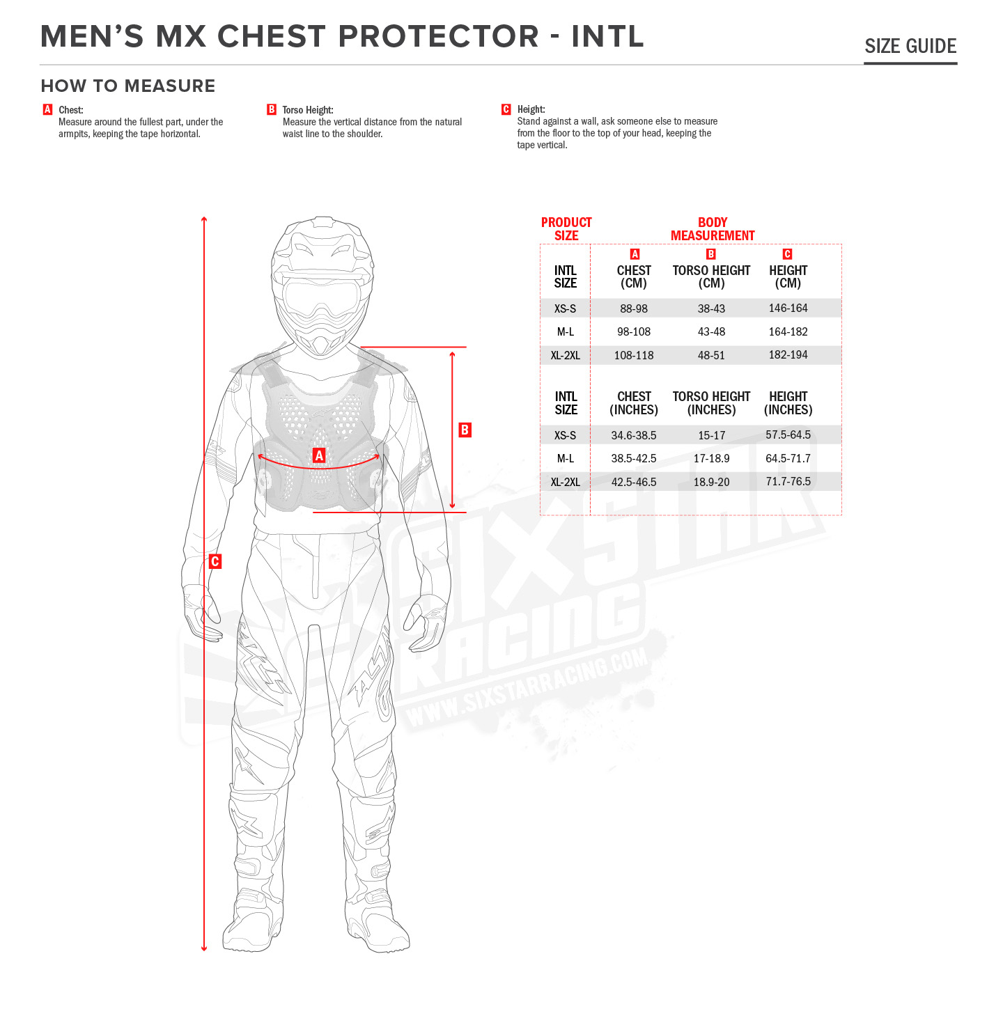 Mx Knee Braces >> Alpinestars A-10 Full Body Protector | Sixstar Racing