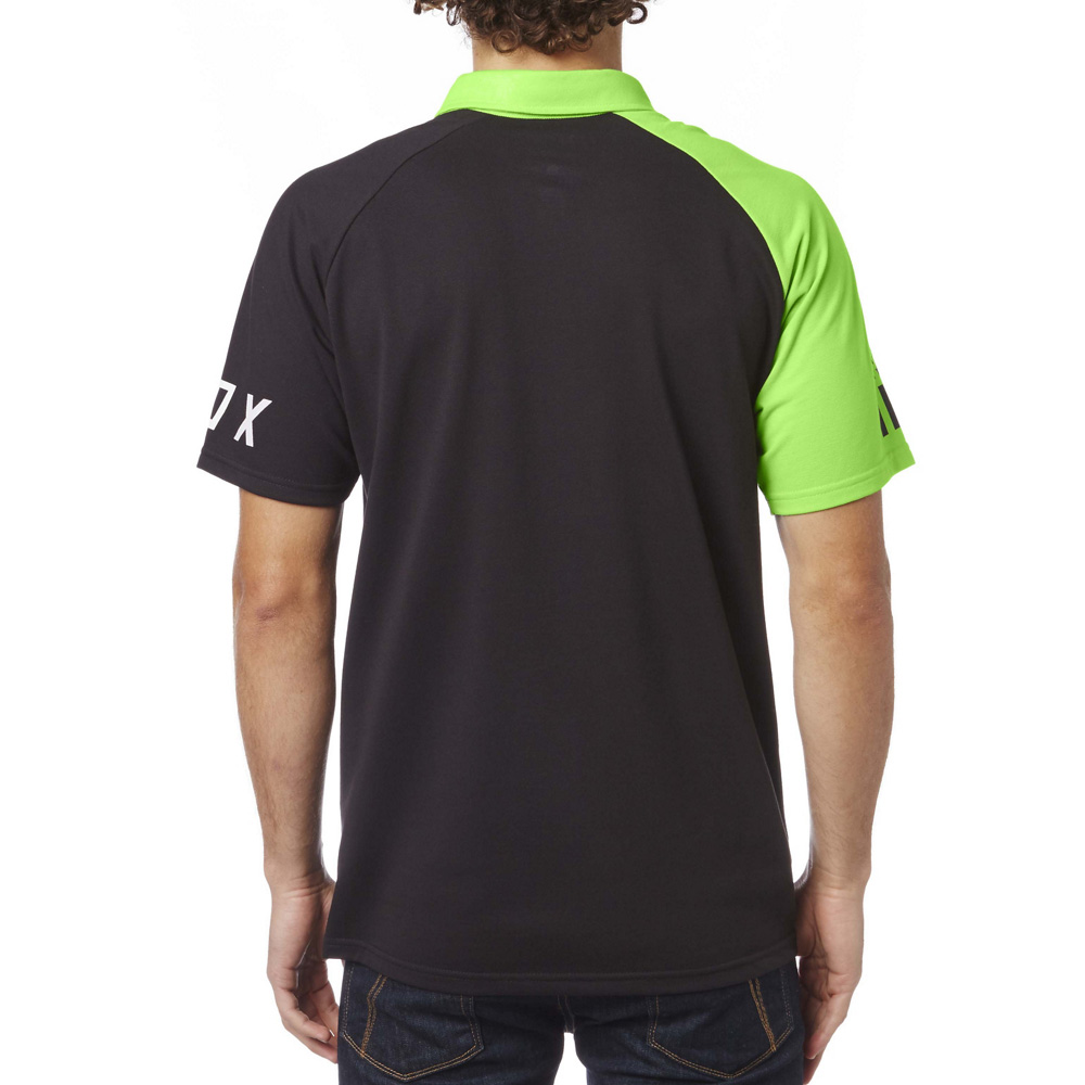 Fox Racing Switched On Polo Black Green Sixstar