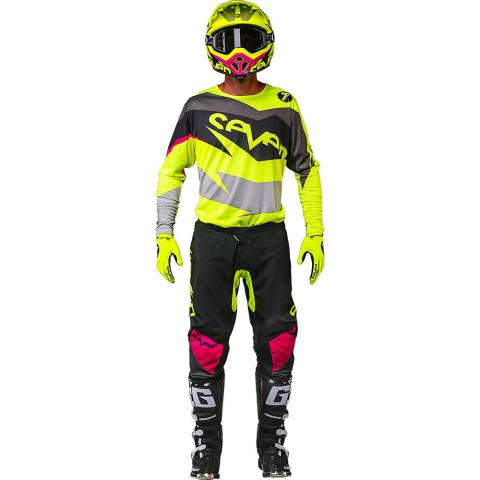 2018 Seven MX annex ignite gear kit black flo yellow tenue motocross equipement combo kleding