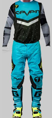 2018 seven mx zero flite black blue gear kit combo equipement tenue outfit pak kostuum motocross