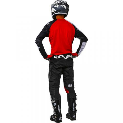 2018 Seven MX rival militant gear kit red black tenue equipement combo kleding