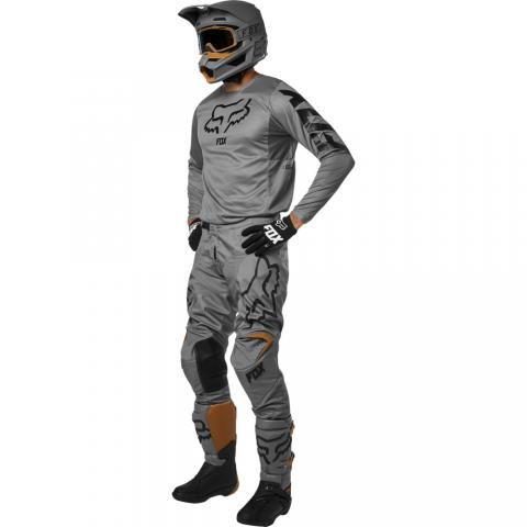2019 Fox Racing 180 Przm Gear Kit Combo Stone Grey Equipement Motocross Crosskleding Tenue Enduro