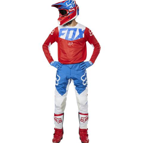 2019 Fox Racing 360 Kila Gear Kit Combo Blue Red Equipement Motocross Crosskleding Tenue Enduro