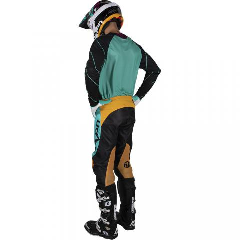 2019 Seven MX Annex Exo Gear Kit Combo Black Aqua Motocross Equipement Tenue Bleu Crosskleding