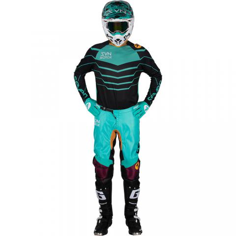 2019 Seven MX Annex Exo Gear Kit Combo Black Aqua Motocross Equipement Tenue Crosskleding