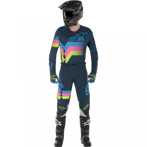 2020 Alpinestars Techstar Venom Gear Kit Navy Aqua Pink Tenue Equipement Crosskleding Combo