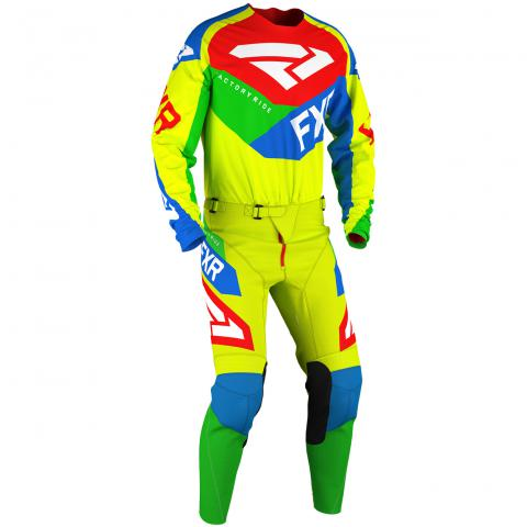 2020 FXR Racing Podium Air Gear Kit HiVis Blue Green Red Motocross - Enduro - Off Road Cross Kleding Tenue Equipement