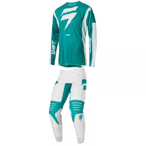 2020 Shift Racing MX Black Label Race Gear Kit Motocross Combo Green White Equipement Tenue Moto Crosskleding