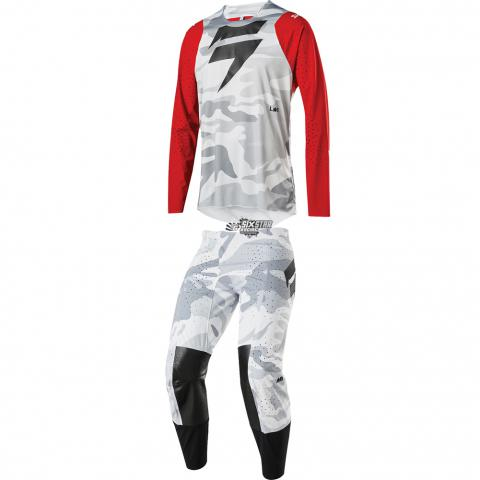 2020 Shift Racing MX Blue Label Snow Camo Motocross Gear Kit Equipement Tenue Combo Crosskleding