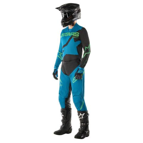 2021 Alpinestars Racer Braap Gear Kit Ocean Blue Mint Equipement Tenue Motocross Crosskleding