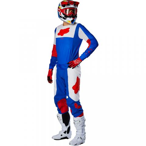 2021 Fox Racing Airline Pilr Gear Kit Blue Red Motocross Equipement Maillot Pantalon Hose Jersey Tenue Crosskleding Broek Trui